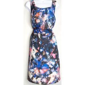 F21 galaxy dress black abstract 1x